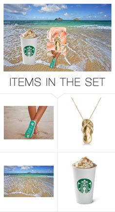 """""""want some coffee on the beach?"""" by used2bnewvintage ❤ liked on Polyvore featuring art"""