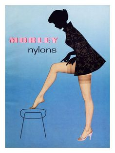 theniftyfifties:    1950s advertisement for 'Morley Nylons'.
