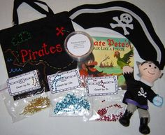 Pirate Literacy Bag / Pirate Story Bag (Add Dutch book by yourself) - Tekno Hipercity Literacy Bags, Preschool Literacy, Early Literacy, Classroom Activities, Book Activities, Kindergarten, Pirate History, Counting In 5s, Pre K Curriculum