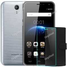 """HOMTOM HT3 PRO 5\"""" HD MTK6735P Quad-core Android 5.1 4G Phone + Protective PU Leather Case + Screen Protector KB-512661"""