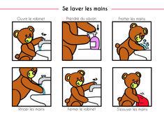 Pictogramme se laver les mains maternelle les gestes et - Coloriage lavage des mains ...