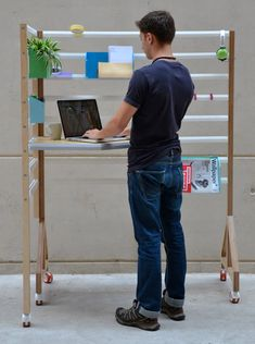 Your Position is an inclusive workspace that adjusts to your needs over time. http://design-milk.com/adjustable-workspace-home-office/