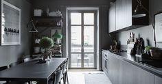 Lotta Agaton's Home in Stockholm For Sale - Gravity Home Interior Blogs, Kitchen Interior, Interior Design, Interior Modern, Home Kitchens, Small Galley Kitchens, Country Kitchen Designs, Design Kitchen, Swedish Interiors