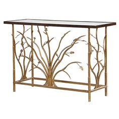 Gold Console With Glass http://www.la-maison-chic.co.uk/Item/Gold_Console_With_Glass