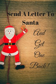 We've got a free printable to help your little one write a letter to Santa. Also, an address where Santa will write back to your child. How magical!