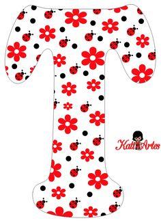 Alfabeto de Flores y Mariquitas. | Oh my Alfabetos!