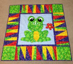 Frog baby quilt...AWE SO CUTE...<3