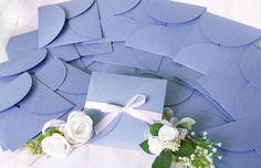 Buste pochette partecipazioni in azzurro perlato