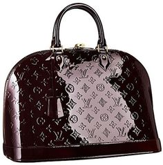 I want this bag.  I think of it day and night/  Louis Vuitton Alma Vernis.