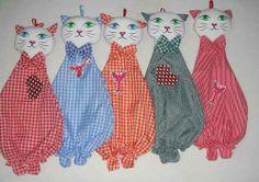 Porta bolsas diseños gatitos