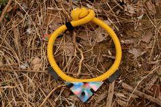 Yellow Choker No.2 - necklace, jewelry - Szamanka Design
