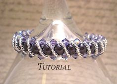 DIY Swarovski Crystal & Pearl RAW Bracelet with Overlay Available on NiteDreamerDesigns Craftsy Store!