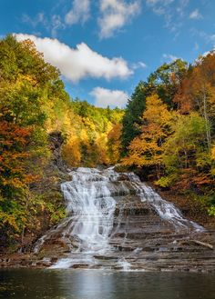 Buttermilk Falls State Park, Ithaca, NY - Ithaca is GORGES! One of over a hundred waterfalls in the area, the cascading series of waterfalls that makes up Buttermilk State Park makes for a hike that cannot be missed.