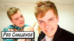 We did the peg challenge! Who wouldn't want to see NikinSammy in pain doing a challenge video? Twins, Challenges, Facebook, Twitter, Youtube, Gemini, Youtubers, Twin