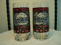 My favorite of all the Coke glass patterns I have in my kitchen.