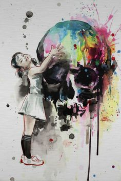 Girls Love Skulls by Lora Zombie   Eyes On Walls