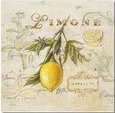 Wildon Home 'Tuscan Lemon' by Angela Staehling Framed Painting Print Posters Vintage, Vintage Images, Vintage Prints, Painting Frames, Painting Prints, Wall Art Prints, Paintings, Lemon Art, Merian