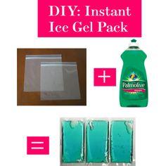 DIY: Instant Ice Gel Pack