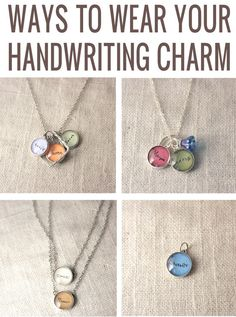YOUR CHILD'S HANDWRITING Upgrade - 12 mm charm - Perfect Mother's Day Gift. $17.00, via Etsy.