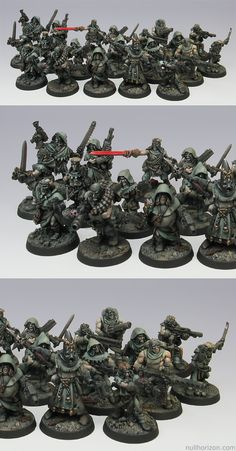 CoolMiniOrNot - Necromunda Cawdor Gang, The Dust Brothers Warhammer 40k Figures, Warhammer Paint, Warhammer Models, Warhammer 40k Miniatures, Warhammer 40000, Necromunda Gangs, Fantasy Model, Game Workshop, Fantasy Miniatures