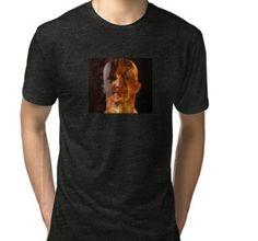 'men in fire-dark art' Tri-blend T-Shirt by ex masck Dark Art, Female Models, T Shirts For Women, Mens Tops, How To Wear, Stuff To Buy, Fashion, Moda, Girl Models