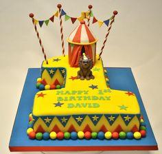 Circus Number 1 Cake