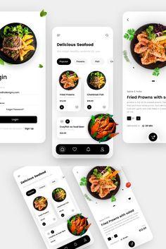 Label Design, Store Design, Ui Ux Design, Branding Design, Cocktail App, Prawn Fish, Startup Branding, App Design Inspiration, Digital Strategy