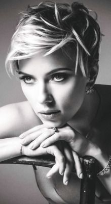 scarlett johansson short hair | Tumblr
