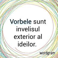 Vorbele sunt învelișul exterior al ideilor.