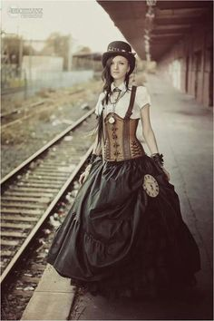 Steampunk, long skirt.