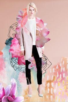 20 Creative Fashion Collages | StyleCaster  Photo: Elizabeth Rachael