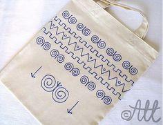 Nákupná taška folk by All - SAShE.sk - Handmade Veľké tašky