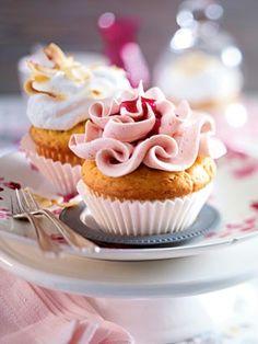 Cupcakes mit Himbeer- creme & Kokosbaiser Rezept