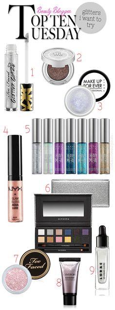 Top 10: Glitter Makeup I Crave via @15 Minute Beauty