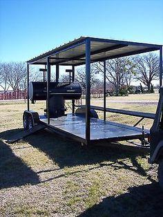 NEW BBQ pit smoker Charcoal grill Concession trailer Bbq Smoker Trailer, Bbq Pit Smoker, Barbecue Pit, Custom Bbq Smokers, Custom Bbq Pits, Backyard Smokers, Homemade Trailer, Food Trailer For Sale, Charcoal Bbq Grill