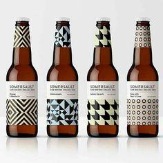 Brand Design Society on Denomination - Somersault . Food Packaging Design, Beverage Packaging, Coffee Packaging, Bottle Packaging, Chocolate Packaging, Brand Packaging, Craft Beer Brands, Craft Beer Labels, Wine Labels