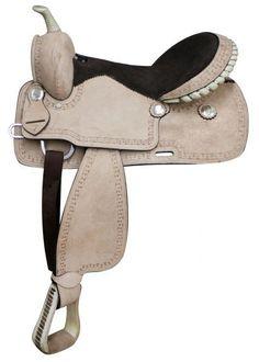 Full Rough Out Leather Economy Saddle