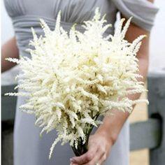 White Astilbe Bouquet -Found on: onefabday.com