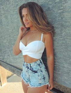 Ice Acid Wash High Waisted Shorts - Sailor and Saint - Online Clothing Boutique