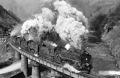 Japan, Steam Locomotive, Old Photos, Past, Transportation, Around The Worlds, Fantasy, Black And White, Vintage