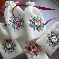 Wonderful Ribbon Embroidery Flowers by Hand Ideas. Enchanting Ribbon Embroidery Flowers by Hand Ideas. Ribbon Embroidery Tutorial, Silk Ribbon Embroidery, Embroidery Stitches, Embroidery Patterns, Hand Embroidery, Embroidery Books, Embroidery Bracelets, Embroidery Supplies, Embroidery Transfers
