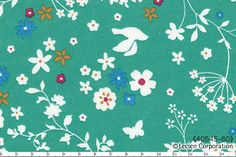 HALF YARD Lecien - Memoire a Paris - White Silhouette on Teal Aqua Floral Cotton Lawn - Birds Flowers Butterflies - Japanese Import by fabricsupply on Etsy Aqua Background, Japanese Imports, Lawn Fabric, Butterflies, Teal, Yard, Kids Rugs, Silhouette, Floral