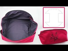 We show you how we sew this zippered pouch. If you . - We show you how we sew this zippered pouch. When you open the zipper, the pouch becomes a box. Bag Pattern Free, Pouch Pattern, Bag Patterns To Sew, Sewing Crafts, Sewing Projects, Good Day Sunshine, Patchwork Bags, Zipper Pouch, Hand Sewing