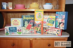 DIY Vintage Grocery Blocks from The Wood Connection