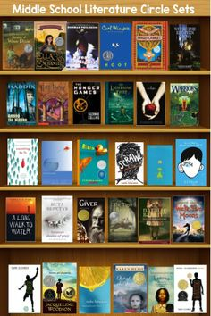 Book Sets for Middle School Literature Circles: -Book to Movie Book Set -First Book in a Series Book Set -Understanding Each Other Book Set -Coming of Age Book Set -Poetry Book Set