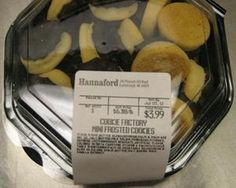 Hannaford Supermarkets recalls mini frosted cookies that contain undelcared egg.