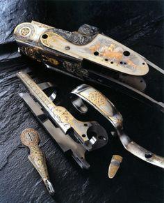 Armes - Alain LOVENBERG, Maître graveur - Concours La Vitrine de l'Artisan 2012