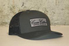 Trucker Hat - Charcoal - Grey/Black Patch
