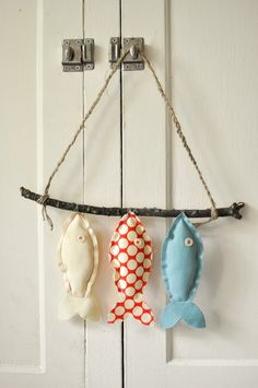 Three Wish Fish Wall Decor by darlingsavage on Etsy for my bathroom... Nautical <3
