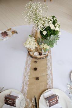 Декор на стол рустик